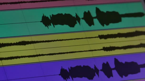 Hanghullám zene diagram a monitoron