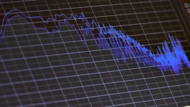 Schallwellen-Musik-Diagramm auf Monitor