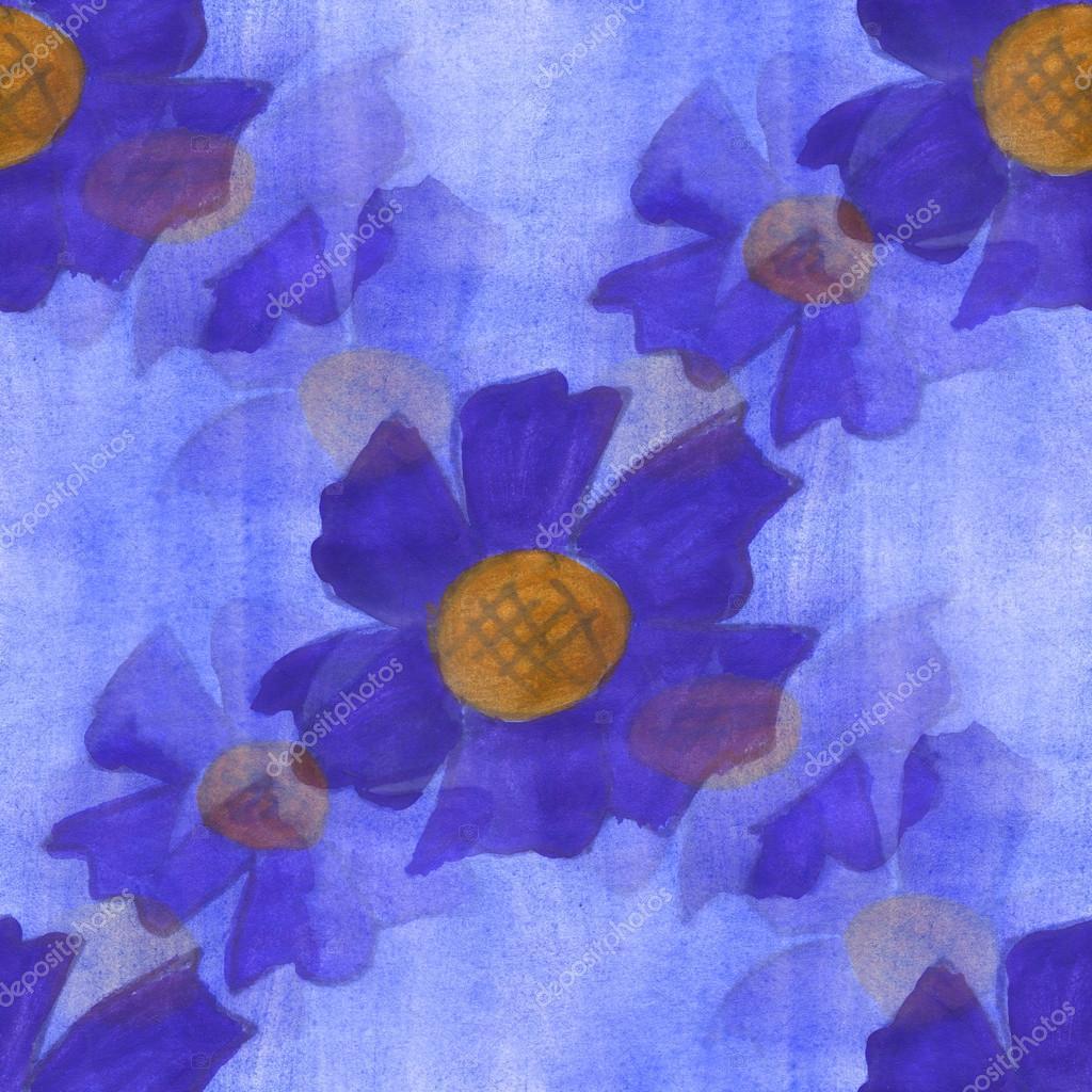 Watercolor flower violet blue pattern seamless floral background watercolor flower violet blue pattern seamless floral background illustration spring wallpaper vintage art flowers maxximmm1 voltagebd Gallery