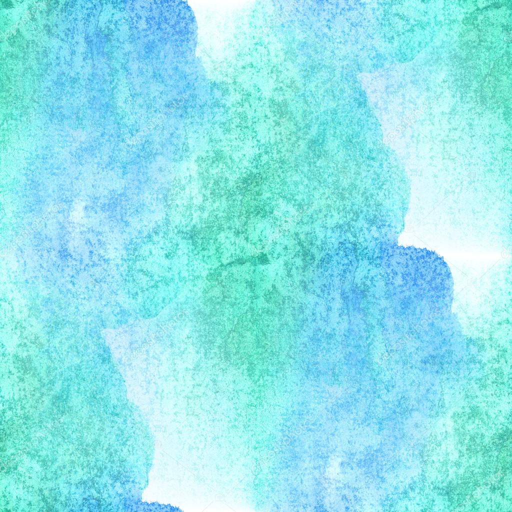 Seamless watercolor blue green background abstract texture pattern