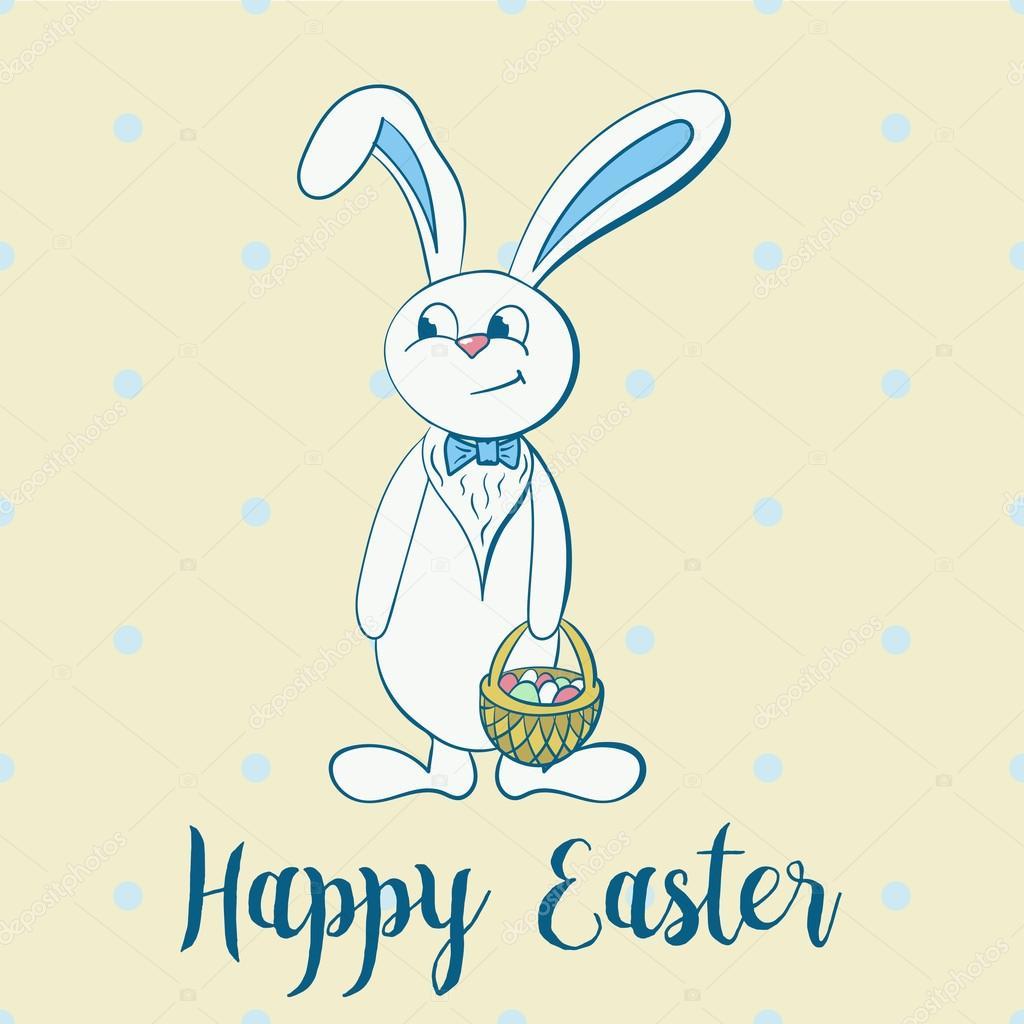 boy Happy easter bunny
