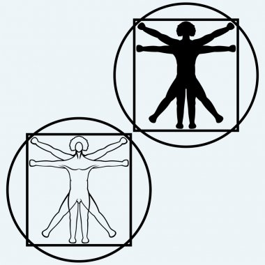 Vitruvian man. Vector