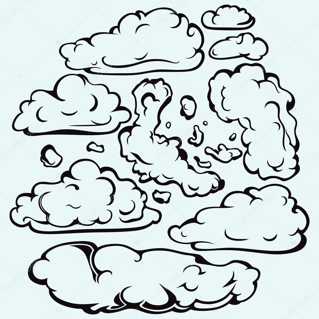 Sky with cloud closeup