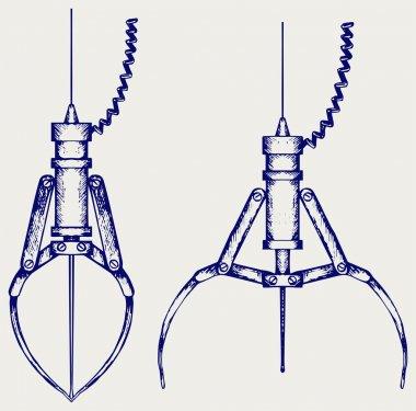 Metal robotic claw