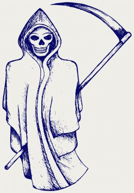 Hand inked grim reaper