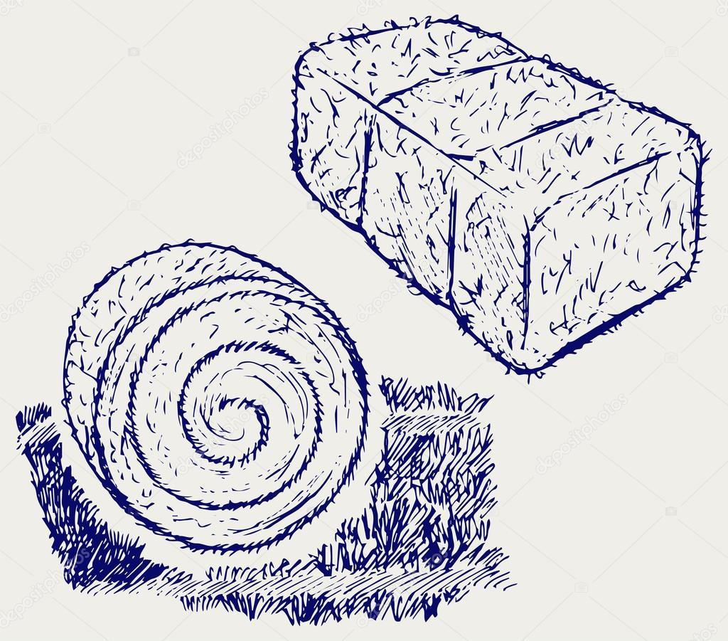 Botte de foin image vectorielle kreativ 65984739 - Une botte de foin ...