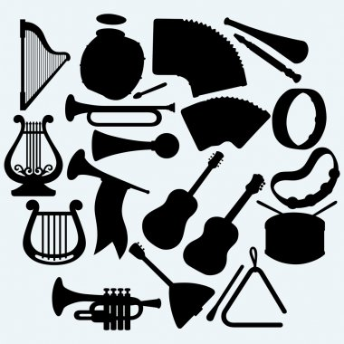Different music instruments