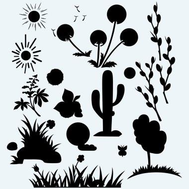 Set plants. Vector