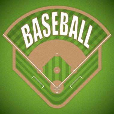 Baseball field from above wiev