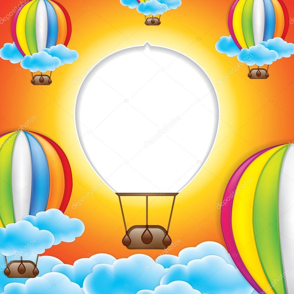 Hot Air Balloon Frame Stock Vector Gigello 114327760