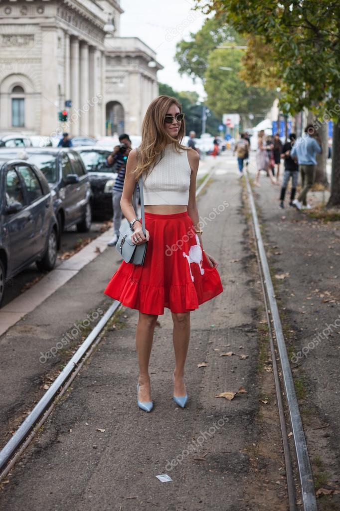 Chiara ferragni - Moda Milano settimana primavera-estate 2015– Fotografia  Editoriale Stock 719108f81c5