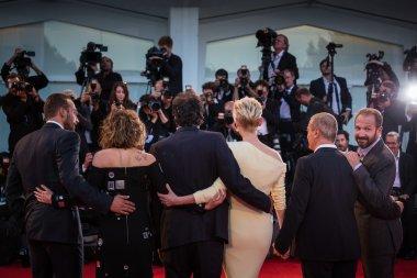 Matthias Schoenaerts, Dakota Johnson, Luca Guadagnino, Tilda Swinton, Corrado Guzzanti, Ralph Fiennes