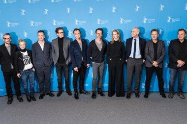 Michael Grandage, Colin Firth, Jude Law, Guy Pearce, Laura Linney, A. Scott Berg, John Logan and guest