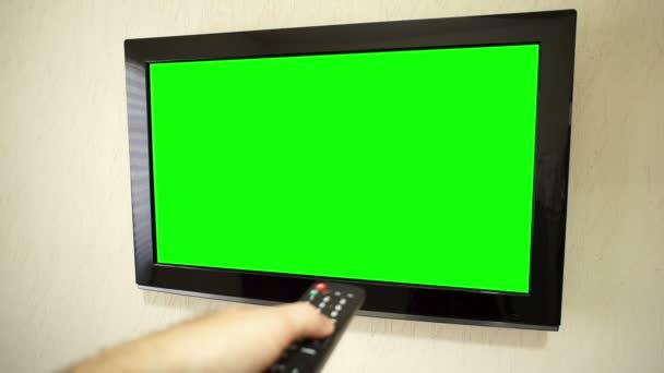TV s plochou obrazovkou Vzdálená změna kanálů