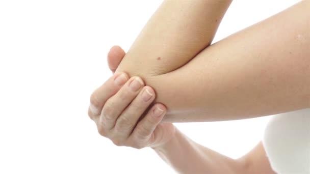 Žena, gumování bolesti lokte