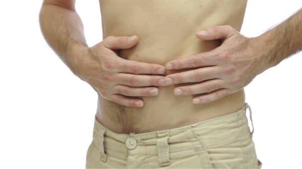 Muž s bolestmi žaludku