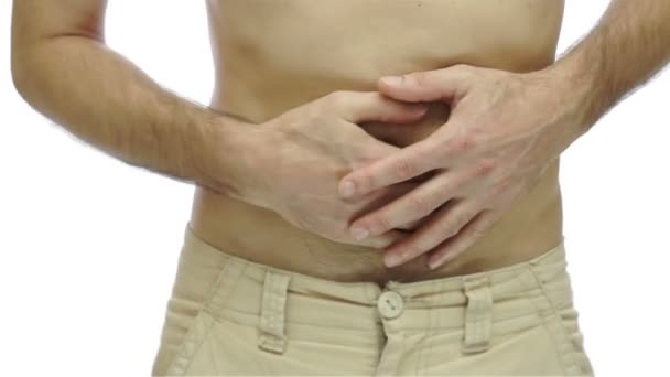 Male With Stomach Pain