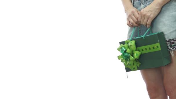 Dívka sukni taštička zelené Copyspace