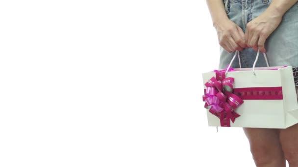 Dívka sukni taštička růžová Copyspace