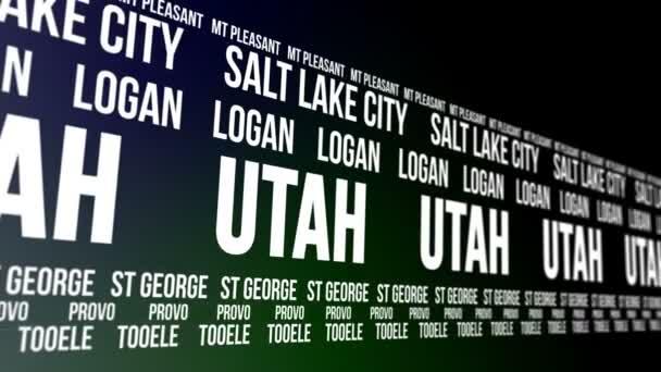 Utah State und Großstädte Scrollen Banner