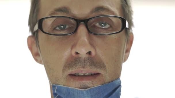 Doktor Obličejová maska přední pohled