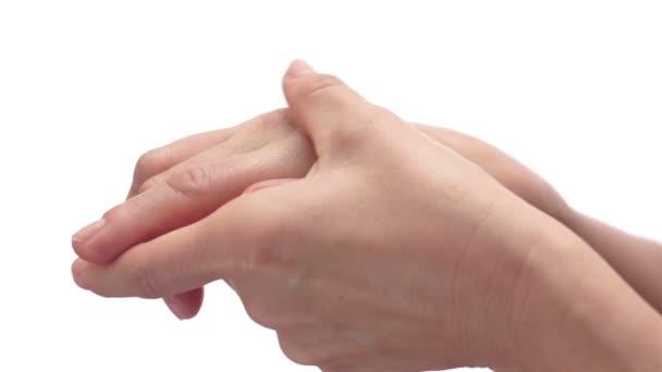 Žena, mnul si ruce bolestivé artritidy