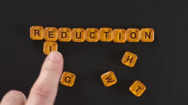 Letter Blocks Spelling Weight Reduction