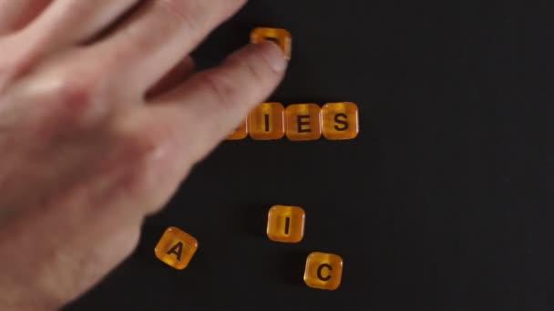 Letter Blocks Spell Organic Veggies