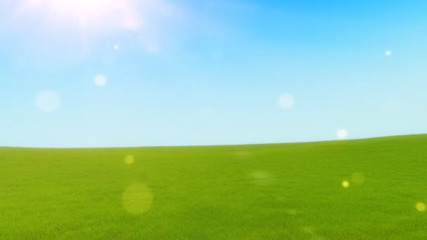 Green hills at sunny day
