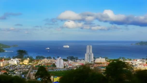 Morning view of Patong bay