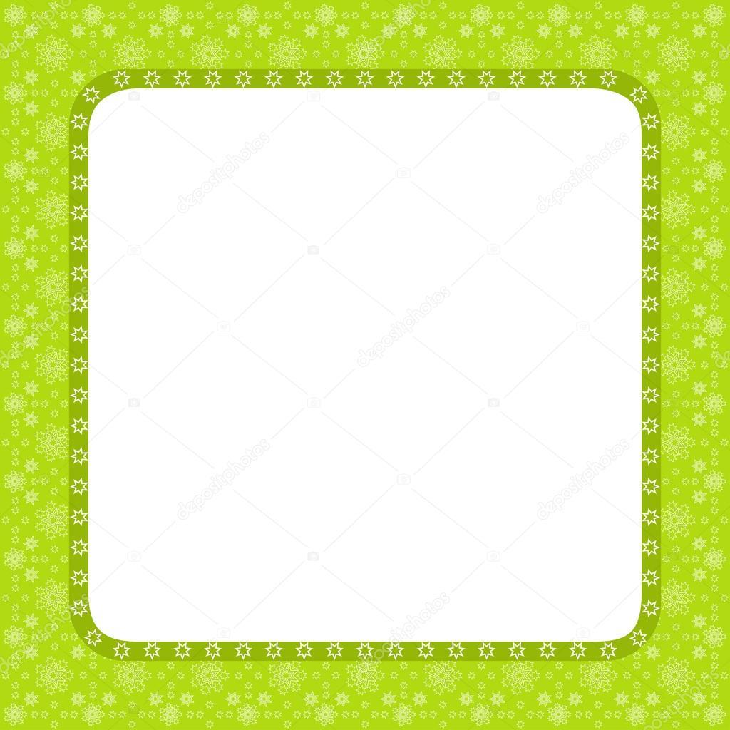 Diseño de marco verde para la tarjeta de felicitación — Archivo ...