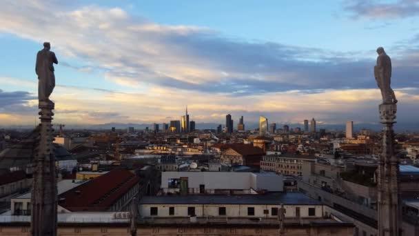 vista panoramica sullo skyline di Milano