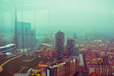 view of the city of Milan.