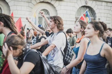 manifestation held in Milan october 18, 2014
