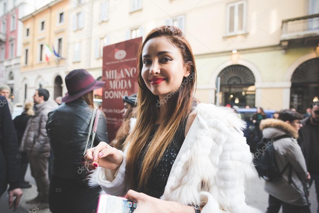 People during Milan Fashion week