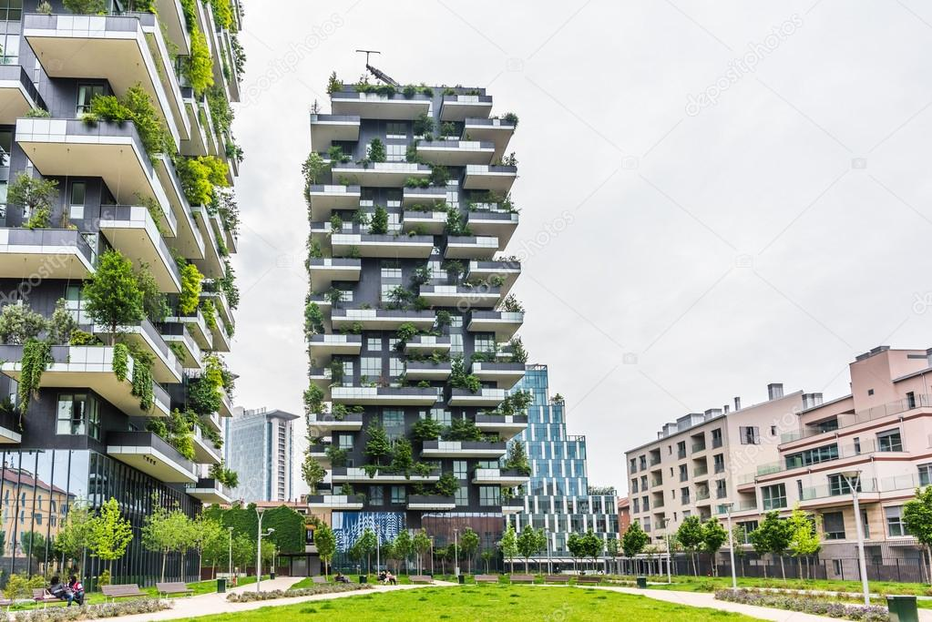 Bosco verticale buildings in Milan