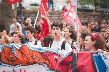 Students manifestation in Milan