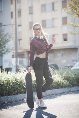 woman model skater posing