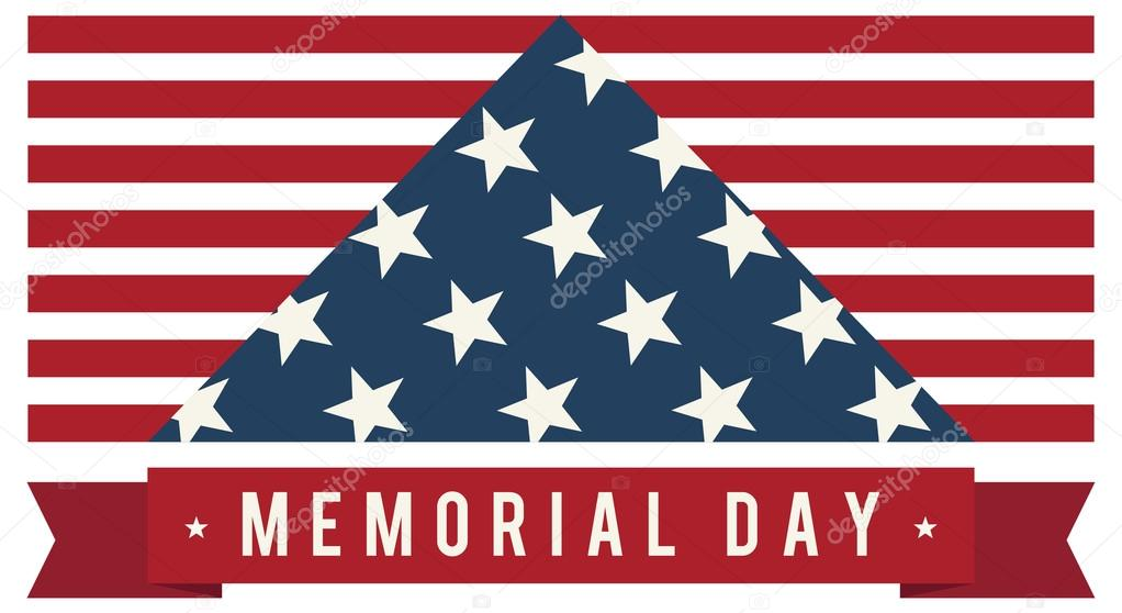 29c6e50e0aa2 America USA Memorial Day Patriotic Vector. Symbolic US Flag. — Stock Vector