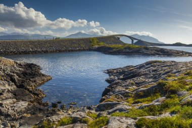 Picturesque views of the Atlantic Road. Norway.