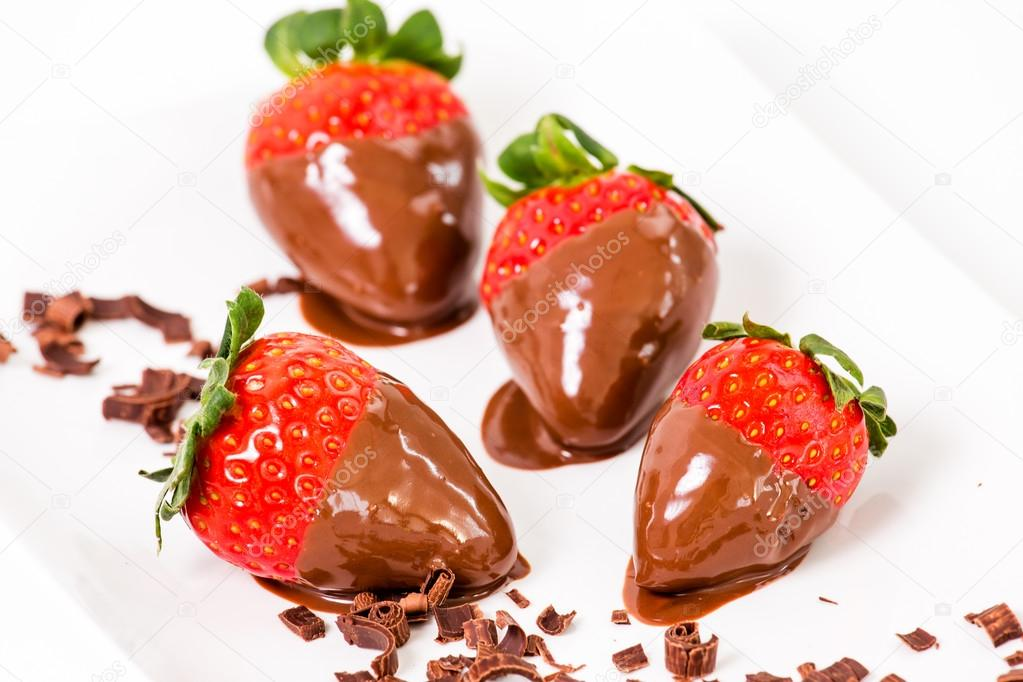 Chocolate Dipped Strawberries Chocolate Pieces Around Him Stock Photo C Justinb 67480517