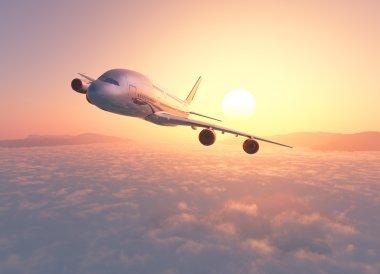 Passenger plane 3d render