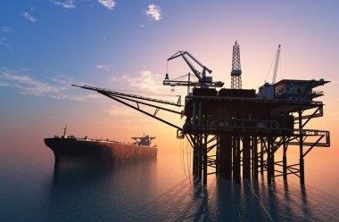 Oil Rig . 3d