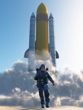 The launch , 3D