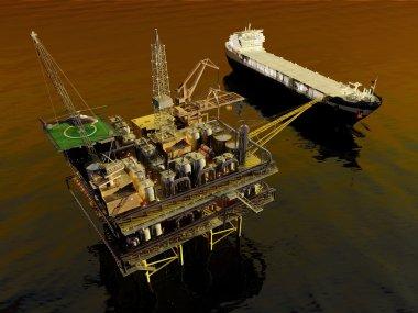 Oil Rig , 3D