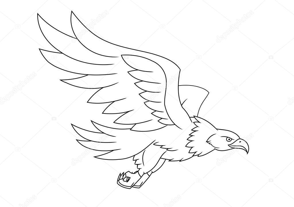 Ucan Kartal Illustrasyon Stok Vektor C Den0909 92419894