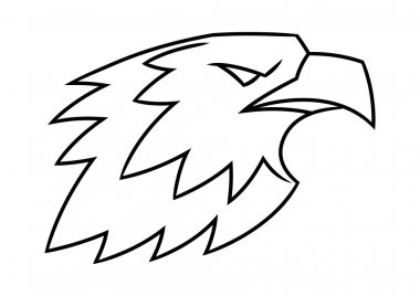 Eagle head logo vector illustration