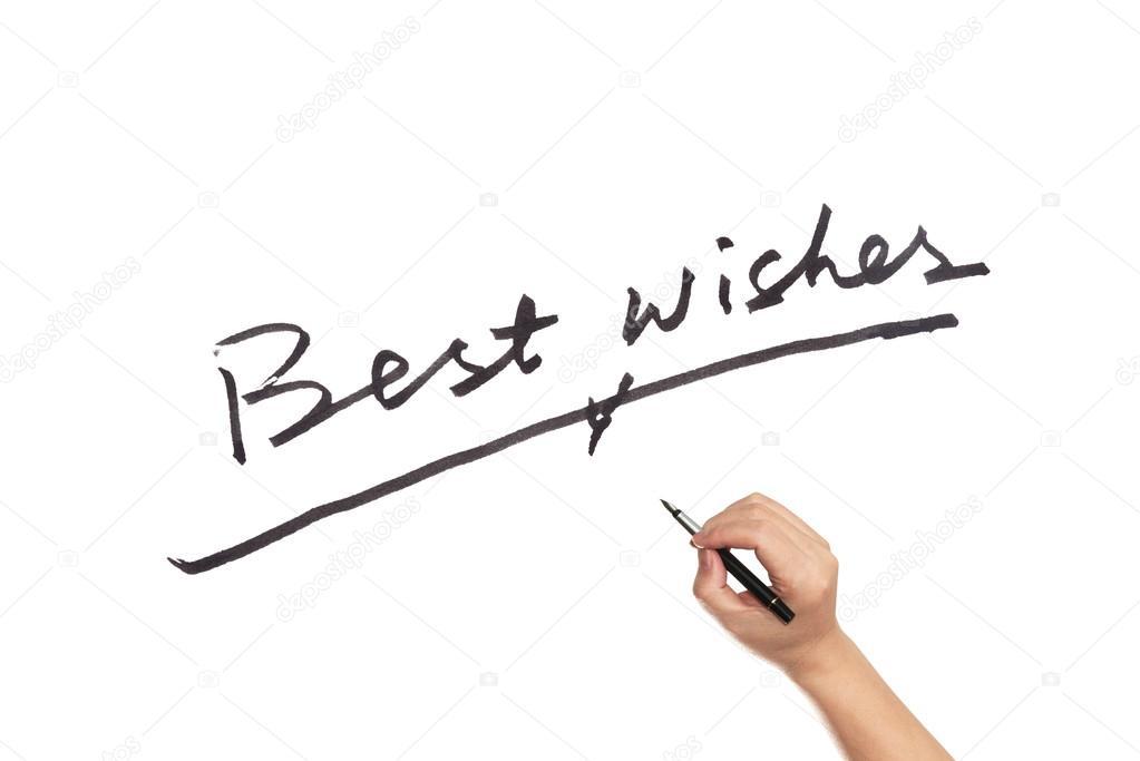 Best wishes words — Stock Photo © raywoo #78814944