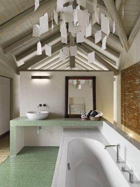 modern bathroom in the attic
