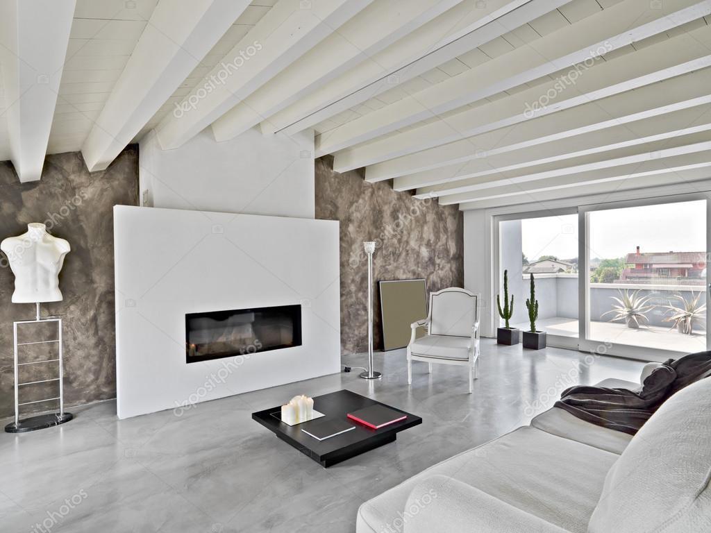 Sala Moderna Con Camino.Immagini Sala Moderna Con Camino Un Moderno Salotto Con